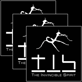 3 x Sticker/Aufkleber – The Invincible Spirit